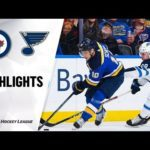 NHL Highlights   Jets @ Blues 12/29/19