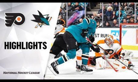 NHL Highlights | Flyers @ Sharks 12/28/19