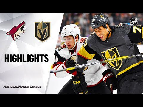 NHL Highlights | Coyotes @ Golden Knights 12/28/19