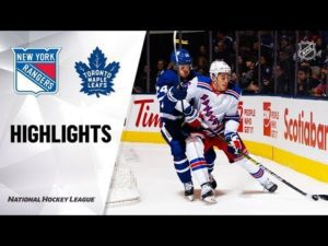 NHL Highlights | Rangers @ Maple Leafs 12/28/19