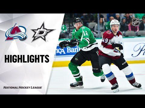 NHL Highlights | Avalanche @ Stars 12/28/19