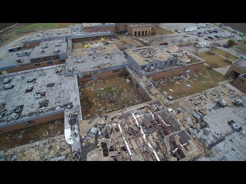 AP: Drone video of South Carolina tornado damage