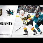 NHL Highlights | Golden Knights @ Sharks 12/22/19