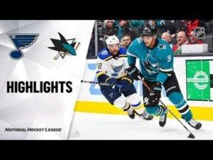 NHL Highlights | Blues @ Sharks 12/21/19