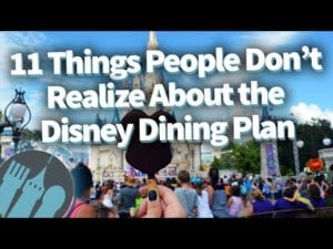 11 Things People Don't Realize About the Disney Dining Plan!