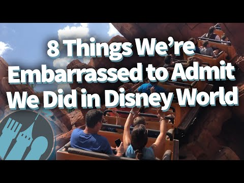 8 Things We're Embarrassed to Admit We Did in Disney World!