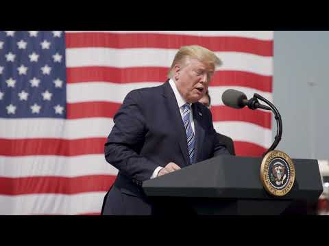 President Trump Visits the USNS Comfort